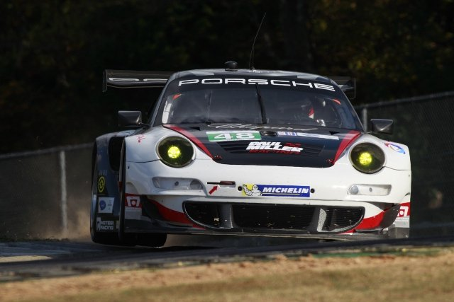 Paul Miller Racing led the Porsches in ALMS GT classes (Credit: Porsche North America)