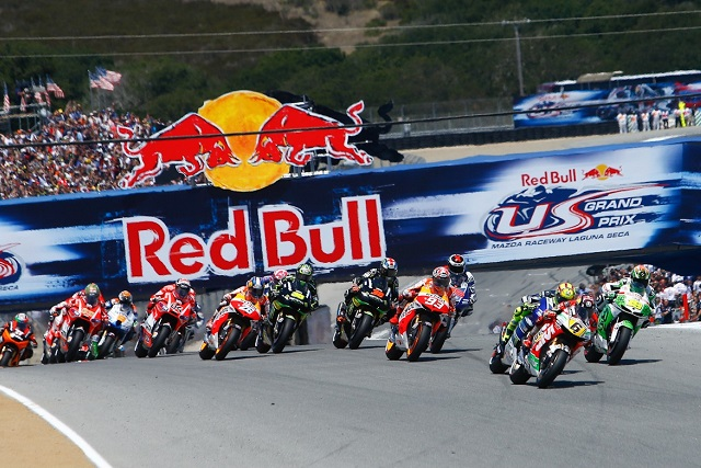 Stefan Bradl leads the field away at the start of this year's U.S. GP - Photo Credit: MotoGP.com