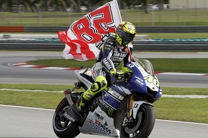 Rossi paid a touching tribute to his late friend Marco Simoncelli after finishing fourth (Photo Credit: Yamaha)