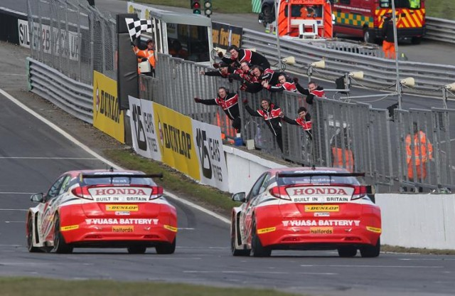 Neal and Shedden lacked consistency but took nine wins together for Honda (Photo: btcc.net)