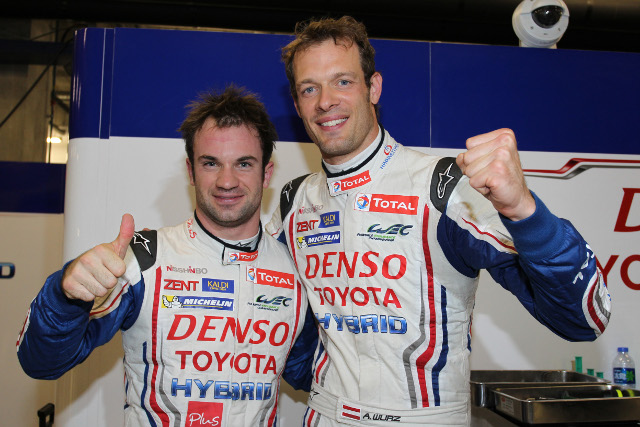 Wurz and Lapierre combined for pole position (Credit: DPPI)