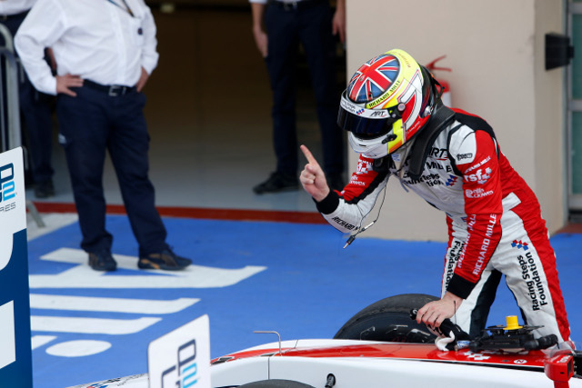Calado emerged ahead of a first corner collision (Credit: Alastair Staley/GP2 Media Service)