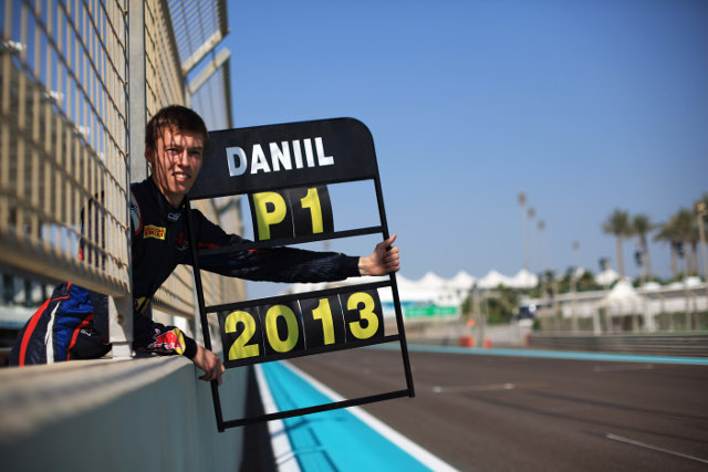 Daniil Kvyat sealed the title with Abu Dhabi victory (Credit: Sam Bloxham/LAT Photographic)