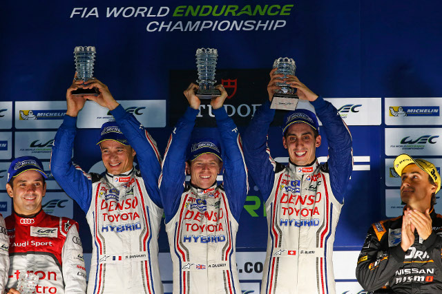 Toyota ended a lacklustre season on top of the podium (Credit: Jean Michel le Meur/DPPI)