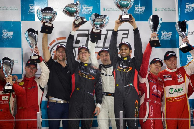Schneider, Bleekemolen and Al Qubaisi completed a stellar year for Black Falcon (Credit: Gulf 12 Hours)