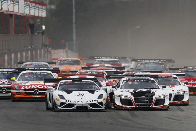 Audi and Lamborghini crews shared the wins at Zolder in 2013 (Credit: VIMAGES/Fabre)