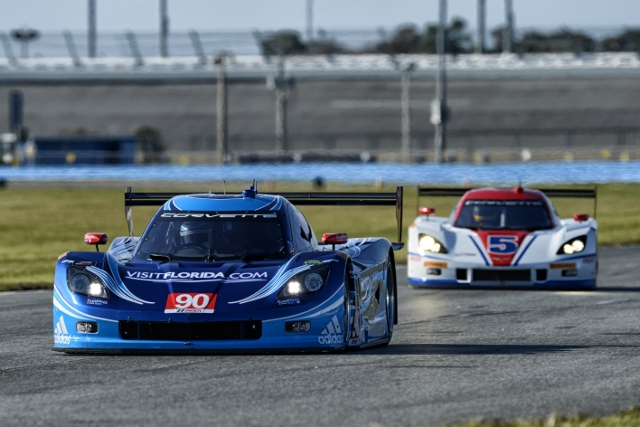 Spirit of Daytona Racing's Daytona testing came to an early end after a serious crash (Credit: IMSA.com)