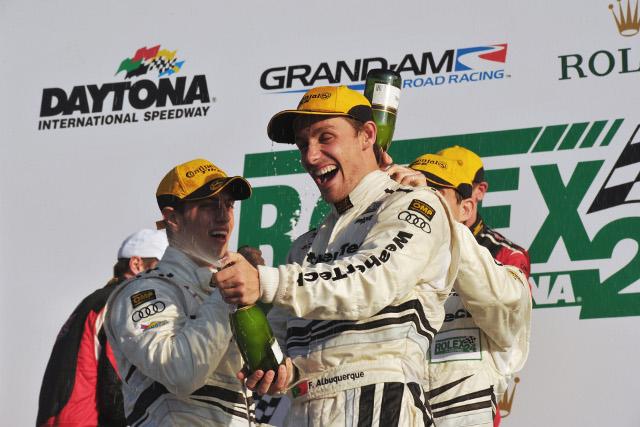 Albuquerque's 2014 season will begin attempting to repeat his Rolex 24 class win (Credit: Audi Motorsport)