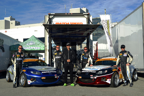 McCumbee and McAleer (left) and Wilson (centre) know Daytona is a tough place to start the year (Credit: CJ Wilson Racing)