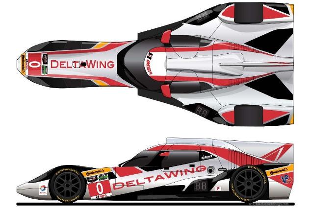 The Rolex 24 will see the DeltaWing on an oval for the first time (Credit:: DeltaWing Racing Cars)