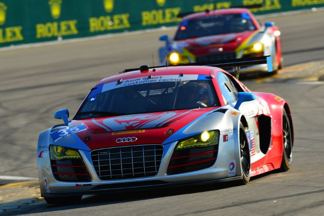 The Fling Lizard Audi stuggled in the session (Credit: Audi Motorsport)