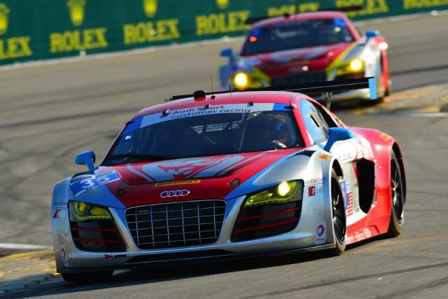 The Fling Lizard Audi stuggled in the session (Credit: Audi Motorsport)