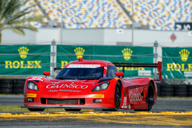 Alex Gurney surprised the Daytona field by taking pole for the Rolex 24 (Courtesy of IMSA)