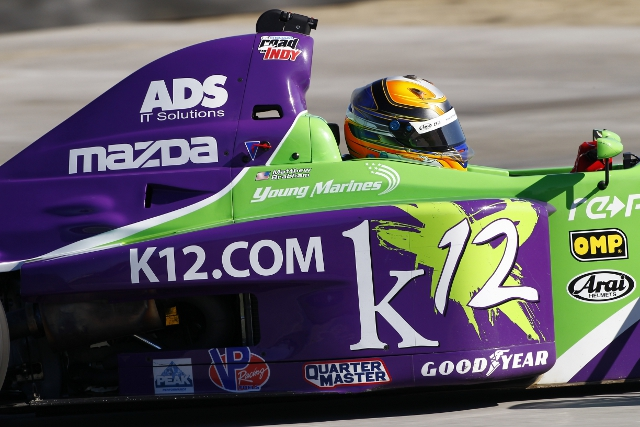 Brabham will graduate to the Indy Lights series for 2014 (Credit: Brett Kelley)