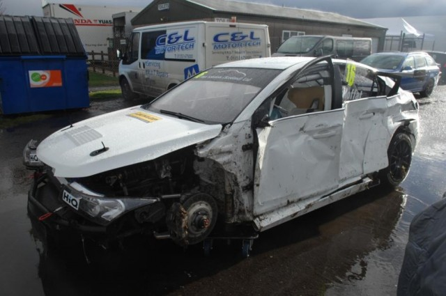Moffat suffered a 'harey' moment... although the Cruze is repairable (PSP Images/Cranham)