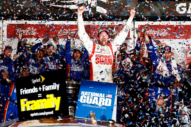 Dale Jr.'s win follows his 2004 Daytona 500 victory (Credit: Tom Pennington/Getty Images)
