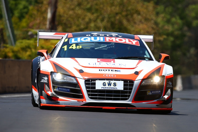 Rotek Racing Class B Audi led overall in the opening hours of the race (Credit: Race Torque Media)