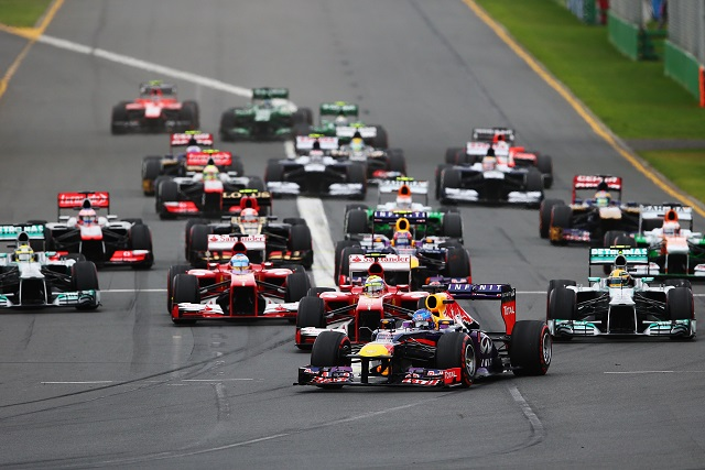 The start of the 2013 Australian GP - Photo Credit: Paul Gilham/Getty Images