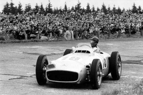 Nurburging: Fangio's fourth win of the year, the first race for the 'monoposto' Merc (Credit: Daimler AG)