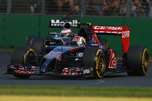 Kvyat showed Jenson Button the way early on (Photo Credit: Robert Cianflone/Getty Images)