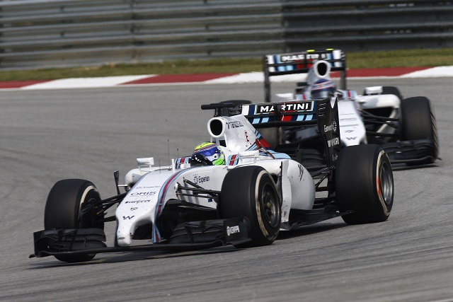 Despite comments on the radio, Felipe Massa continued lead Valtteri Bottas - Photo Credit: Williams Martini Racing