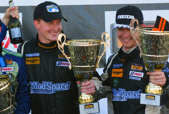 Stevan and Chad took the spoils for second after coming from the back (Credit: CJ Wilson Racing)