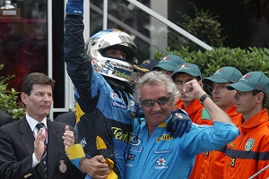 After the joy of Monaco, Trulli and Briatore would soon go their seperate ways (Photo Credit: Renault F1)