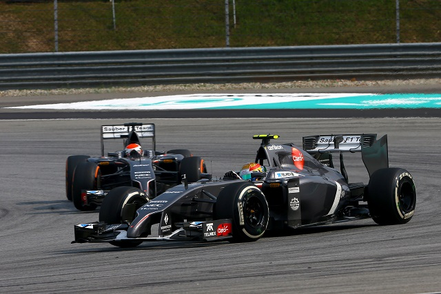 Esteban Gutierrez and Adrian Sutil - Photo Credit: Sauber F1 Team