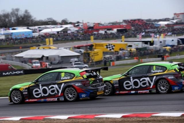 Turkington makes the winning move on Collard (Photo: btcc.net)