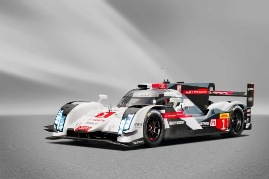 Each colour on the R18's new livery has a meaning within the project (Credit: Audi Motorsport)