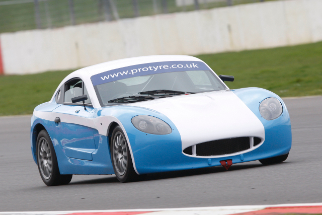 Gaffney was testing as part of Ginetta's annual media day at Silverstone (Credit: Jakob Ebrey Photography)
