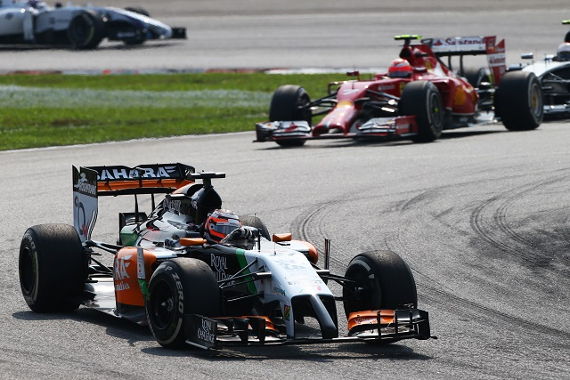 Nico Hulkenberg was a thorn in Ferrari's side all afternoon - Photo Credit: Sahara Force India