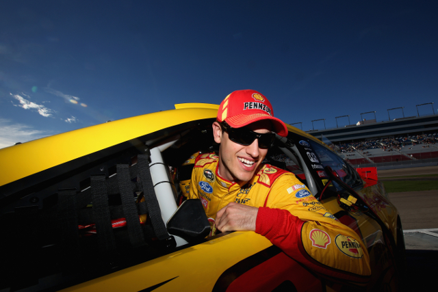 After a shaky start to the session, Logano led both round two and three at LVMS (Credit: Nick Laham/Getty Images)