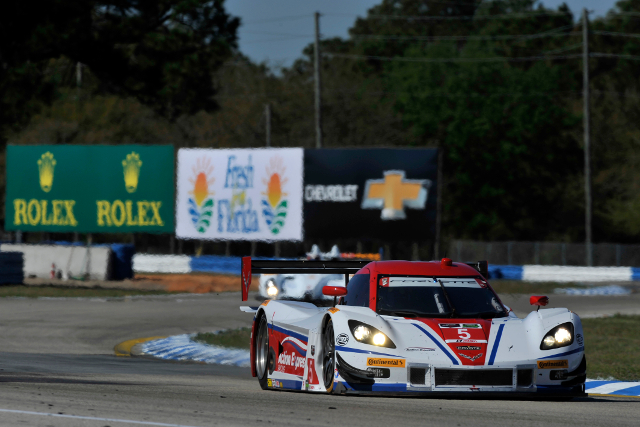 Bourdais put the Rolex 24 winners on the Sebring pole (Courtesy of IMSA)
