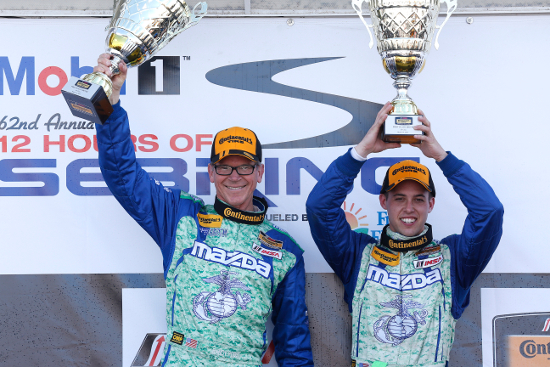 Pobst and Carbonell led a MX-5 1-2 in ST (Courtesy of IMSA)