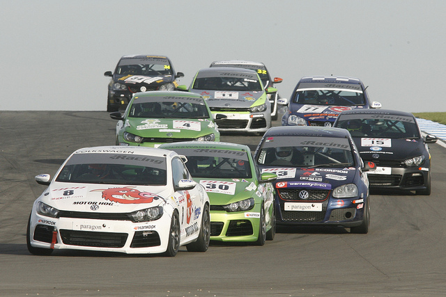 The VW Racing Cup field returns to action at Oulton Park this weekend (Credit: Nick Carter)