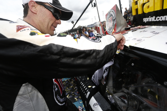 Harvick took just his seventh Sprint Cup career pole position (Credit: NASCAR)