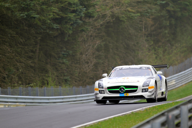 HTP's Mercedes flew in the first Norschleife session of the weekend (Credit: Kevin Mc Glone/Red Square Images)