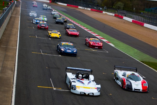 The Britcar season opere revolved around a battle between the two front row cars (Credit: Nick Smith)