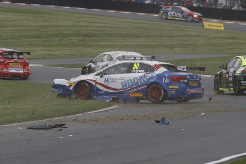 Tom Ingram crash 2014 BTCC Brands Hatch
