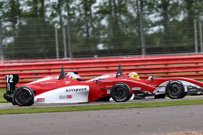 Hillspeed's pair of sophomore drivers showed promise at Silverstone (Credit: Jakob Ebrey Photography)