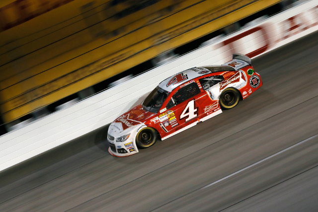 Harvick dominated the event, but had time against him late on (Credit: NASCAR Via Getty Images)
