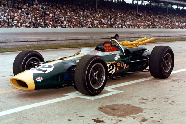 Clark became the first man to drive a rear engined car to victory, but the revolution was almost complete (Credit: Indycar Media)