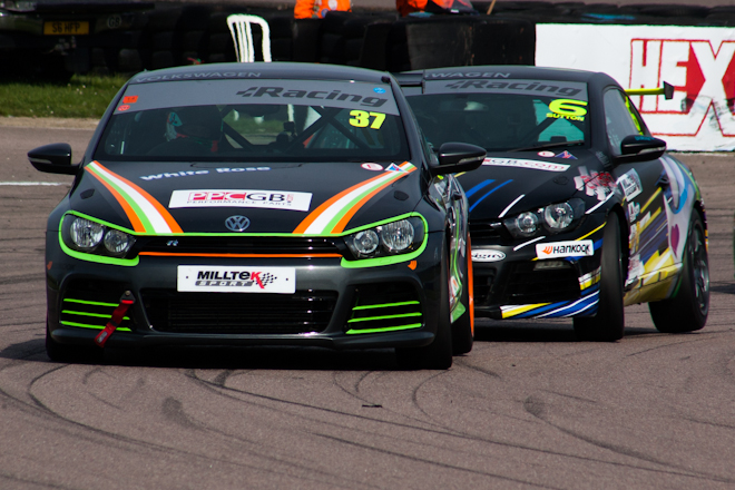 Greenway took a maiden VW Cup win to snap Aaron Mason's streak (Credit: Nick Smith)