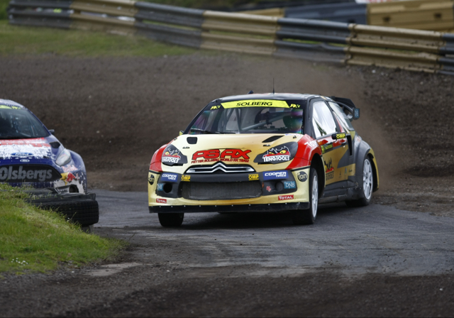 Petter Solberg flat out in his Citroen DS3