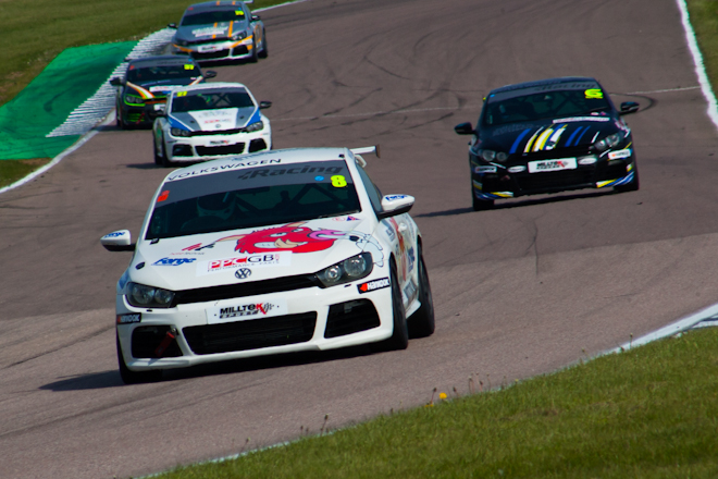 Mason, Sutton and Di Resta battled for the lead late on (Credit: Nick Smith)