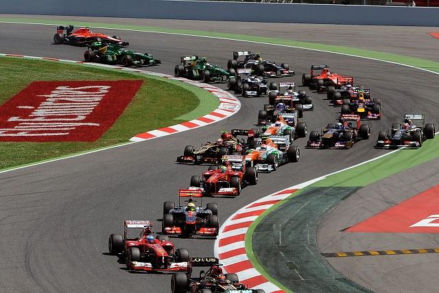 The start of the 2013 Spanish GP - Photo Credit: Ferrari