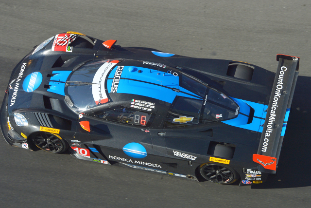 Wayne Taylor Racing's relationship with Konica Minolta began with second at Long Beach (Courtesy of IMSA)