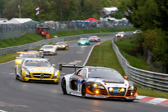 Audi and Mercedes will feature in the titanic GT3 scrap out front (Credit: ADAC Zurich Nurburgring 24 Hours)