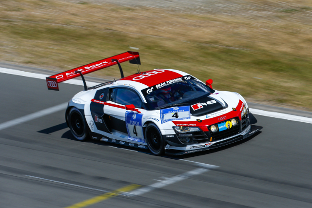 The pair of Phoenix Audis swapped the lead of the session between themselves (Image Credit: ADAC Zurich Nurburgring 24 Hours)